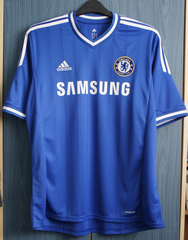 Chelsea Home football shirt 2013 - 2014. Sponsored by Samsung