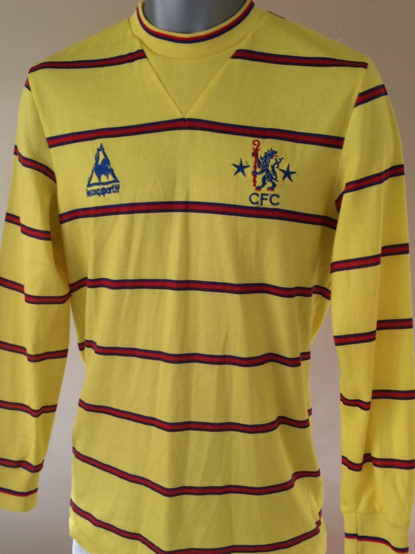 Chelsea ext rieur maillot de foot 1983 1985 ajout 2017 for Maillot exterieur