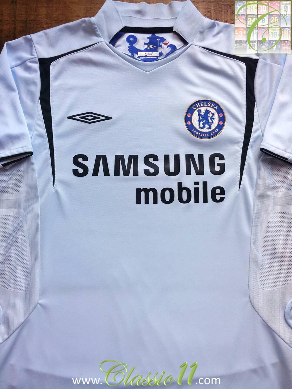 Chelsea ext rieur maillot de foot 2005 2006 ajout 2010 for Maillot exterieur