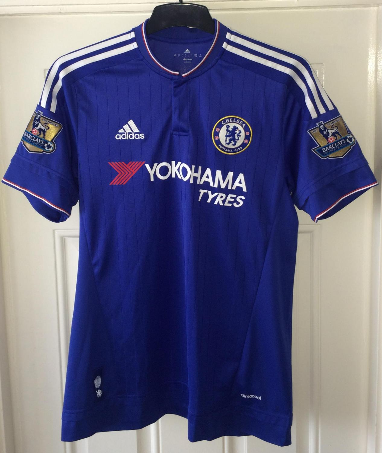 Chelsea Home football shirt 2015 - 2016. Sponsored by ...