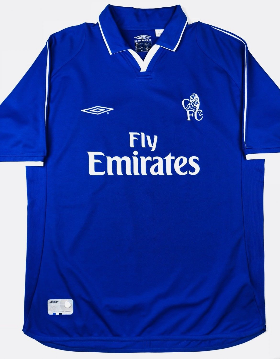 Chelsea Home football shirt 2001 - 2003. Sponsored by Emirates