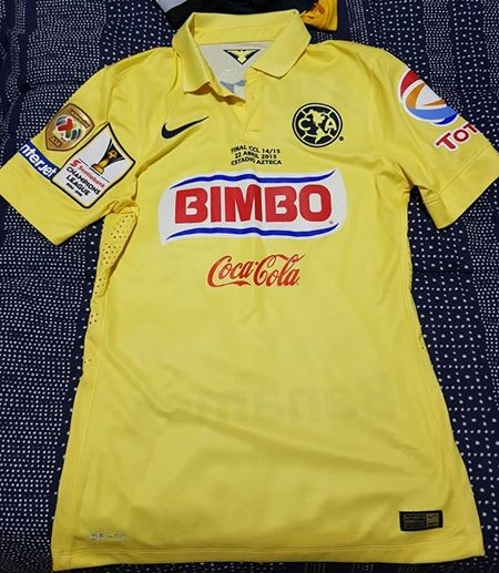 468b6987164 Club America Home baju bolasepak 2014 - 2015. Sponsored by Bimbo