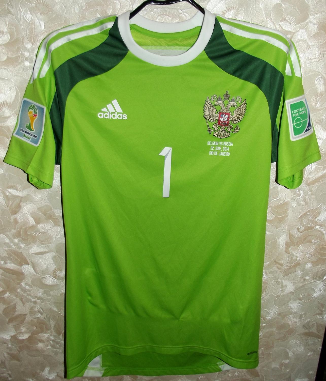 Russia Goalkeeper Camisa De Futebol 2014