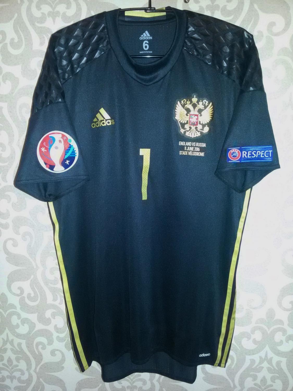 b35840e22 Russia Goalkeeper camisa de futebol 2016.