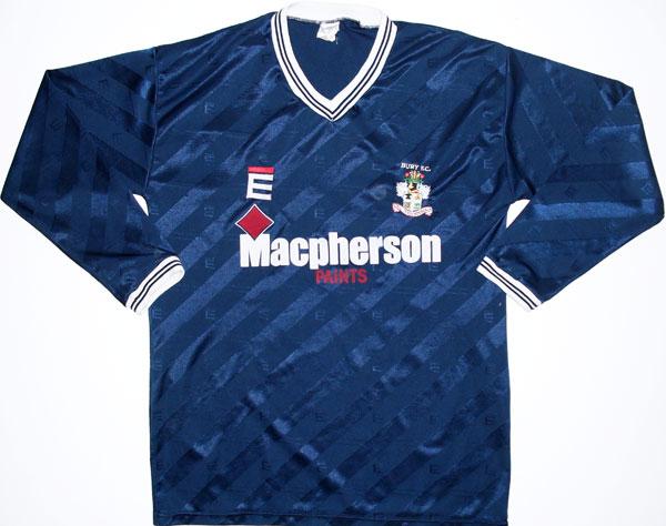 Bury Away baju bolasepak 1987 - 1989  Sponsored by