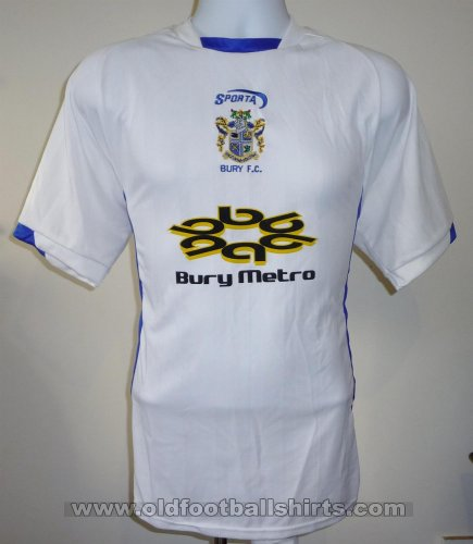 Bury FC Home Maillot de foot 2003 - 2004  Sponsored by Bury