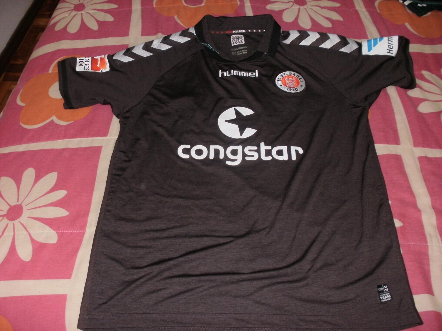 st pauli home football shirt 2014 2015 added on 2015 07. Black Bedroom Furniture Sets. Home Design Ideas