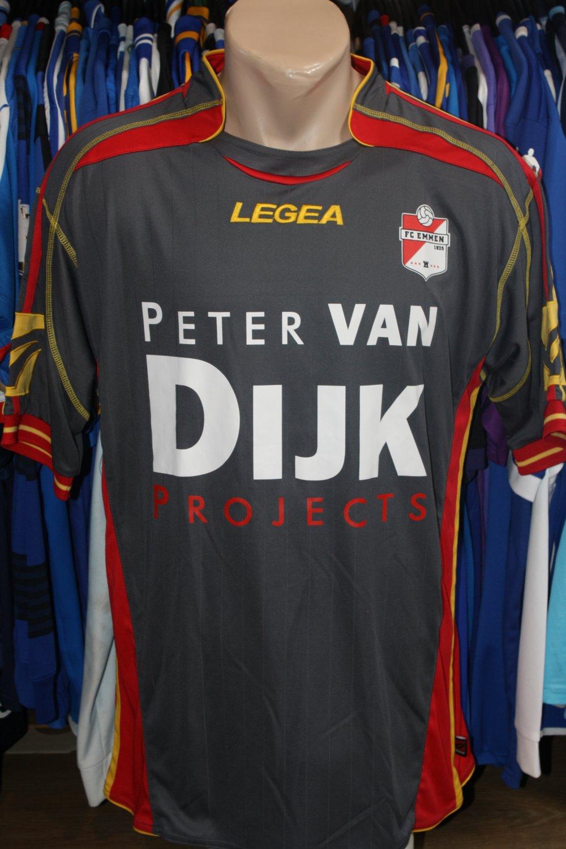 Fc Emmen Away Football Shirt 2010 2011 Sponsored By Peter Van Dijk Projects