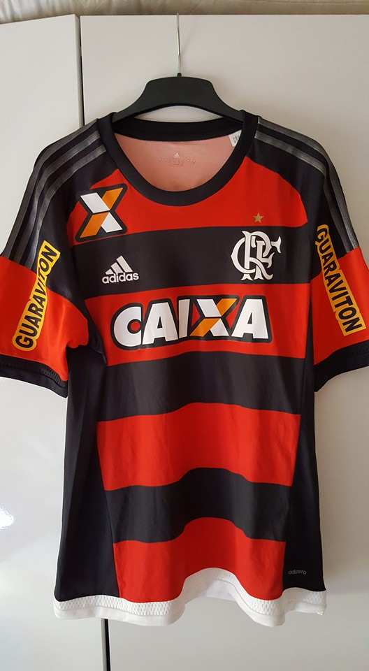 Flamengo Home maglia di calcio 2015 - 2016. Sponsored by Caixa 2d66eb4cd