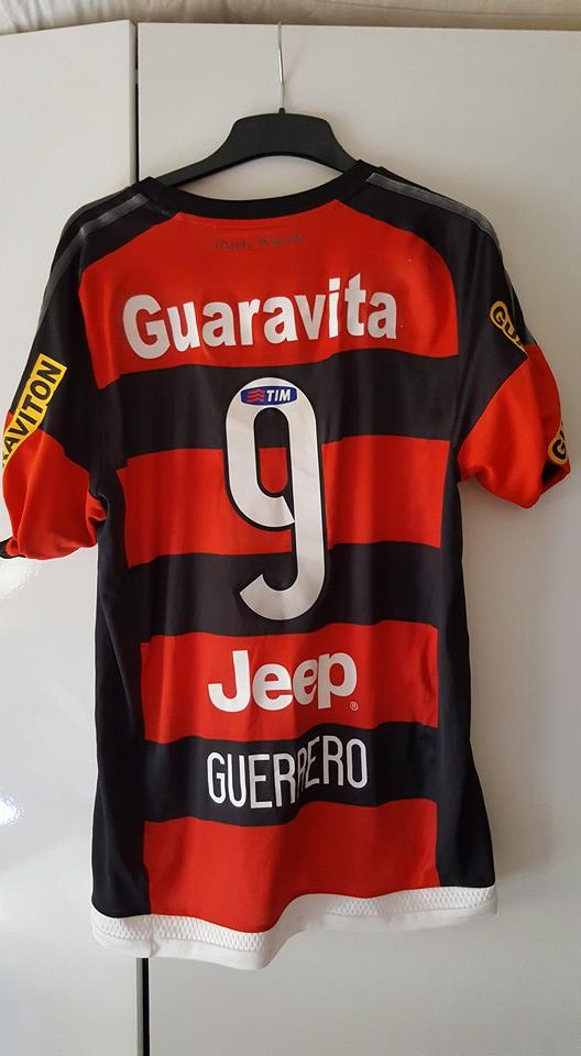Flamengo Home maglia di calcio 2015 - 2016. Sponsored by Caixa 9e29653ba