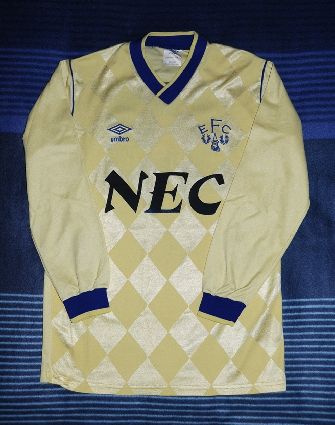 the latest cb583 42b94 Everton Away Camiseta de Fútbol 1986 - 1987. Sponsored by NEC