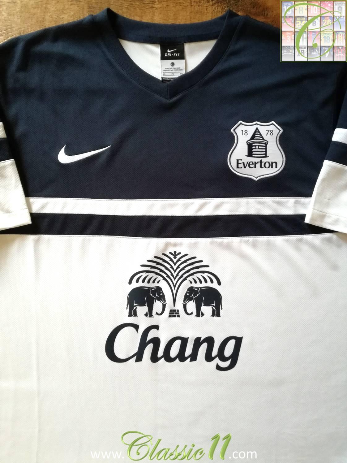 buy popular fc985 8dada Everton Third camisa de futebol 2013 - 2014. Sponsored by Chang