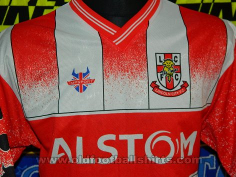 Lincoln City Home football shirt 2001 - 2002