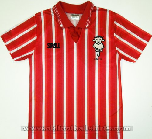 Lincoln City Home baju bolasepak 1989 - 1990
