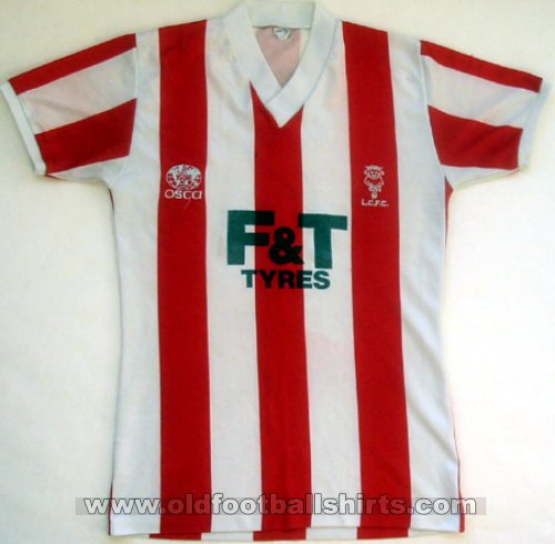 Lincoln City Home baju bolasepak 1985 - 1987