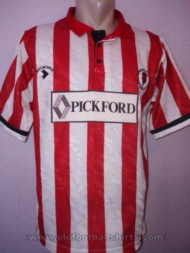 Lincoln City Home Fußball-Trikots 1990 - 1991