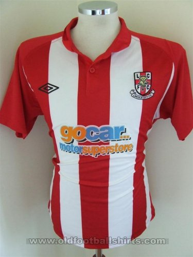 Lincoln City Thuis  voetbalshirt  2010 - 2011
