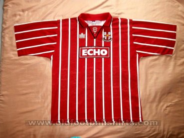 Lincoln City Home Fußball-Trikots 1995 - 1996