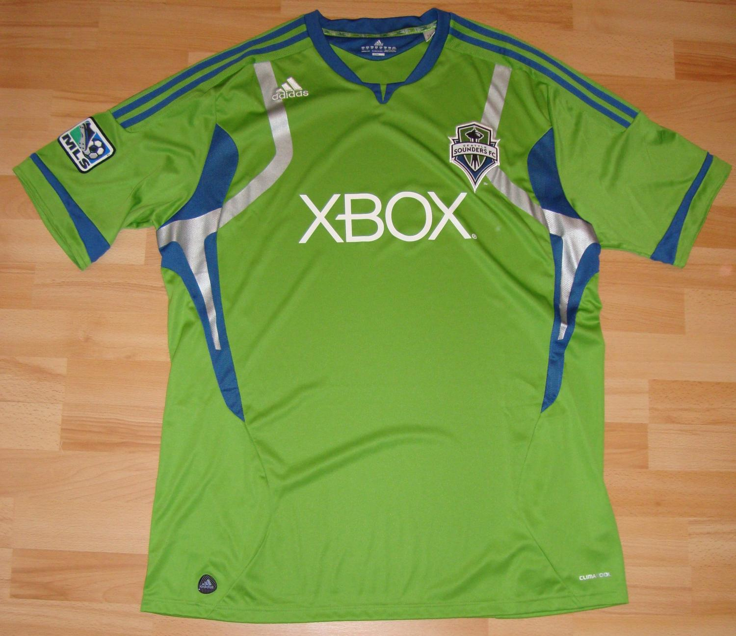 new arrival 641d7 fd4f8 Seattle Sounders Home חולצת כדורגל 2011. Sponsored by XBox
