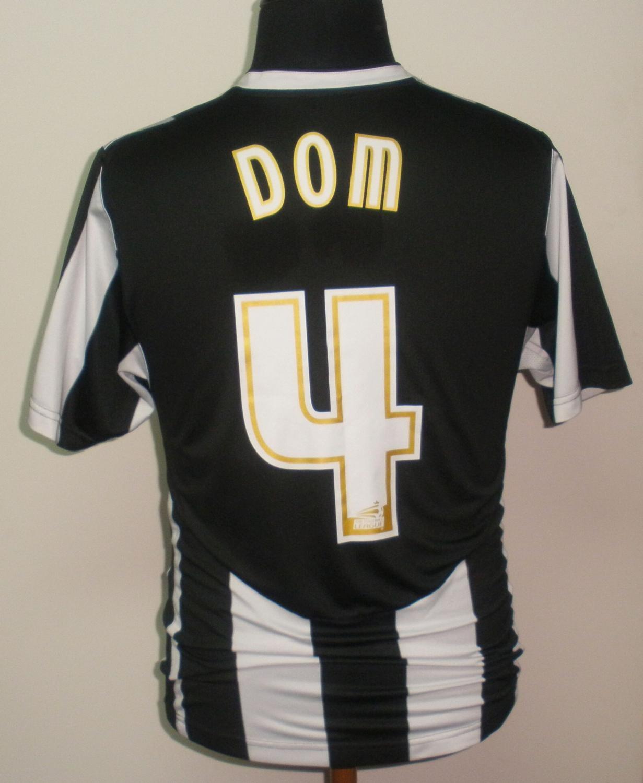 Notts County Home maglia di calcio 2009 - 2010. Sponsored by Medoc 4606ac84e