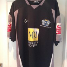 Peterborough United Away voetbalshirt  2007 - 2008 sponsored by MRI Overseas Property