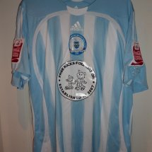 Peterborough United Away voetbalshirt  2009 - 2010 sponsored by Free Kicks Foundation