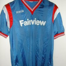 Peterborough United Home voetbalshirt  1986 - 1987 sponsored by Fairview