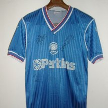 Peterborough United Home voetbalshirt  1988 - 1989 sponsored by Perkins
