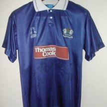 Peterborough United Home voetbalshirt  1992 - 1993 sponsored by Thomas Cook