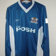 Peterborough United Home voetbalshirt  1999 - 2000 sponsored by Posh