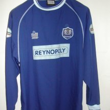 Peterborough United Home voetbalshirt  2003 - 2004 sponsored by Reynopoly