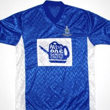 Rochdale Home baju bolasepak 1988 - 1989 sponsored by All in One Garden Centre