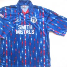 Rochdale Home baju bolasepak 1993 - 1994 sponsored by Smith Metals