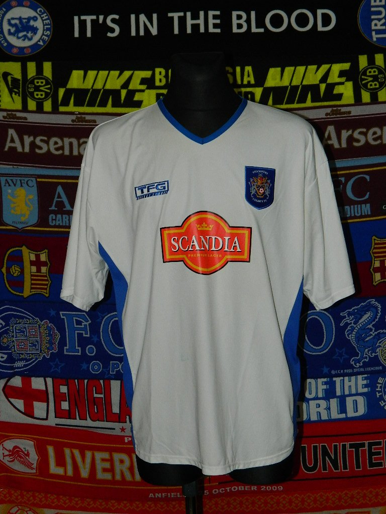 d9383a53d98 Stockport County Away football shirt 2004 - 2005. Sponsored by Scandia
