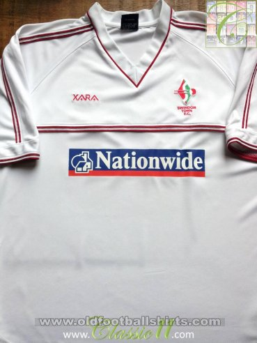 Swindon Town Away baju bolasepak 2000 - 2001