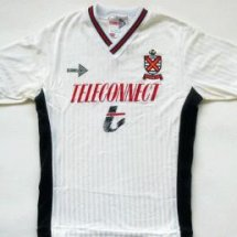 Fulham Home football shirt 1989 - 1990 sponsored by Teleconnect
