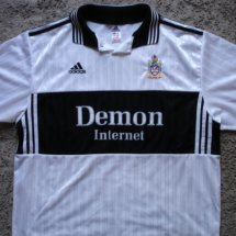Fulham Home football shirt 1998 - 1999 sponsored by Demon Internet