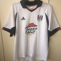 Fulham Home football shirt 2001 - 2002 sponsored by Pizza Hut
