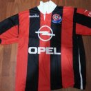 Hapoel Haifa football shirt 1995 - 1996