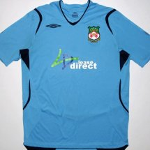 Wrexham Away Maillot de foot 2008 - 2009 sponsored by Lease Direct