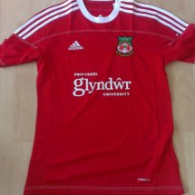 Wrexham Home Maillot de foot 2012 - 2013 sponsored by Glyndwr University