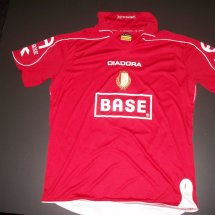 Standard Liege Home voetbalshirt  2008 - 2009 sponsored by Base