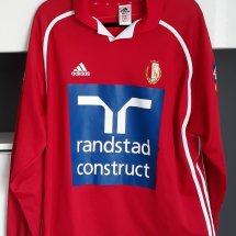 Standard Liege Home voetbalshirt  2001 - 2002 sponsored by randstad construct