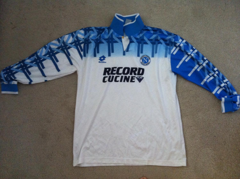 Napoli Away camisa de futebol 1994 - 1995. 4d34cbe7d