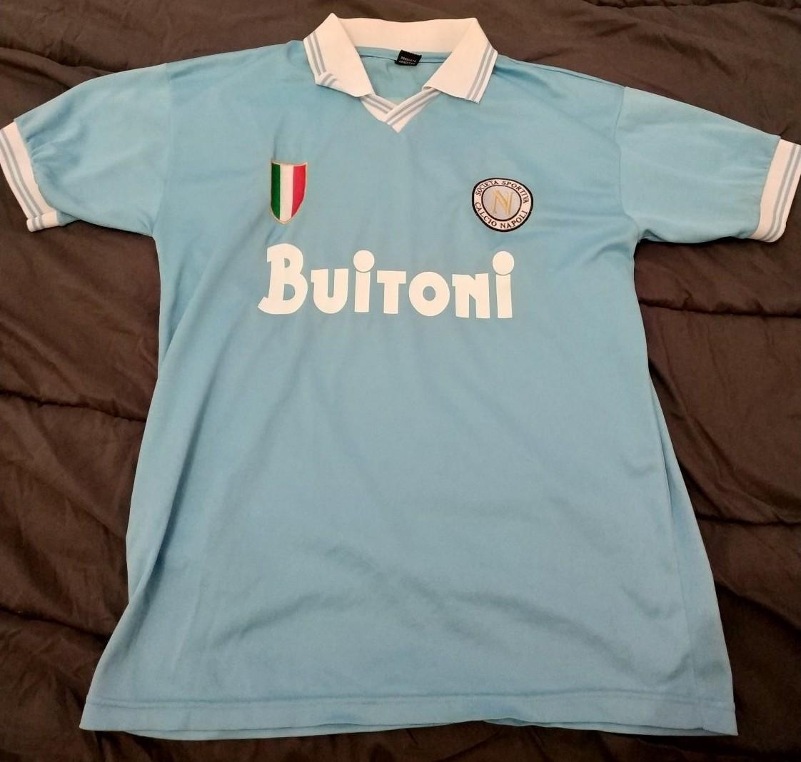 Napoli Home maglia di calcio 1986 - 1987. Sponsored by Buitoni