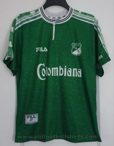 Deportivo Cali Home Football Shirt 1999 Sponsored By Colombiana