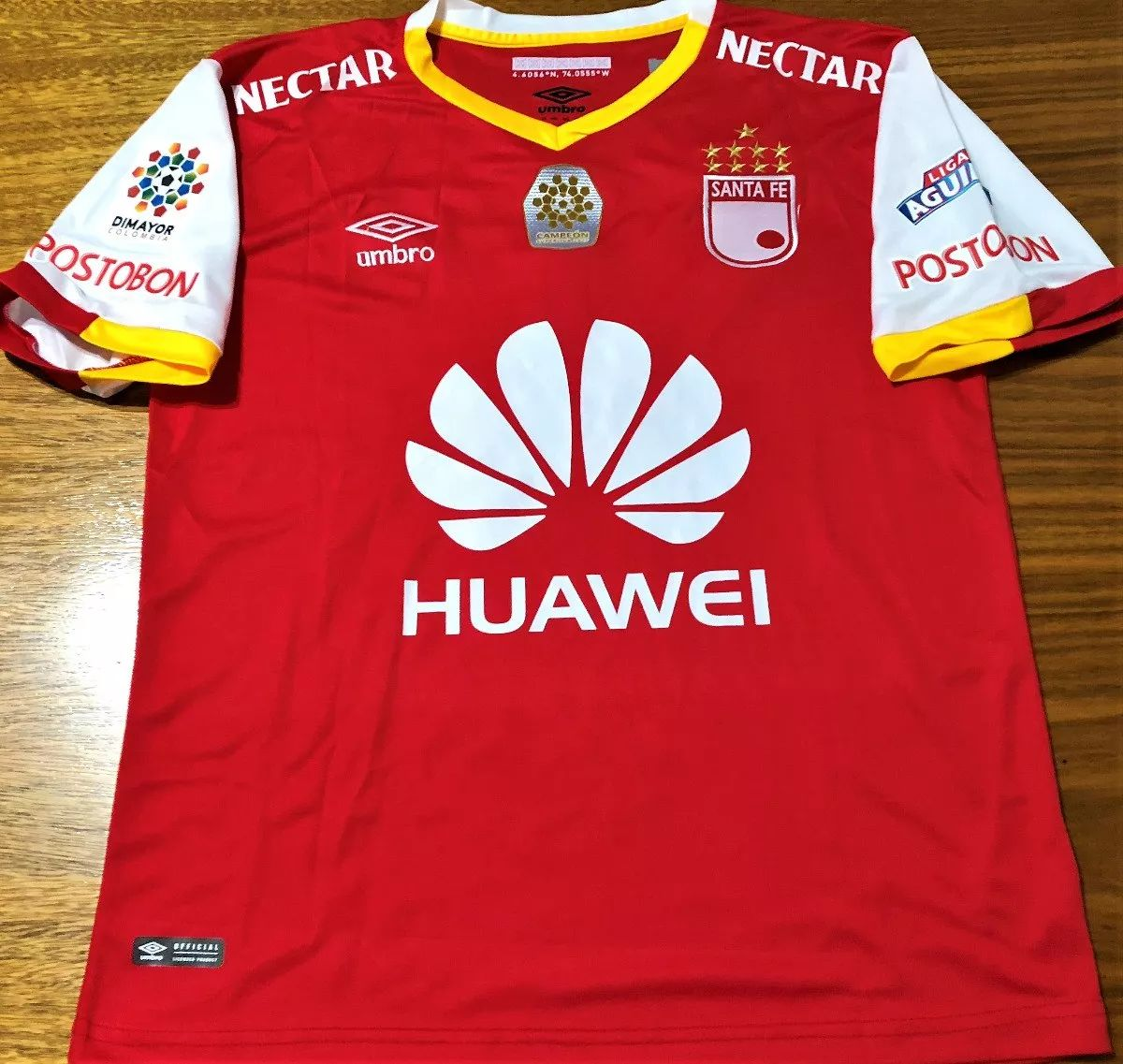 66559de69 Independiente Santa Fe Home camisa de futebol 2017 ...